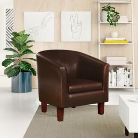 image-Darlene Tub Chair Zipcode Design Colour: Brown