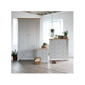 image-Chester Grey Bedroom Set with Gents Wardrobe