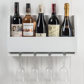 image-Lytchett Minster Wine Bottle and Glass Rack Brambly Cottage Finish: Paris White
