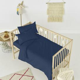 image-Rockford Fitted Cot Sheet Symple Stuff Colour: Navy