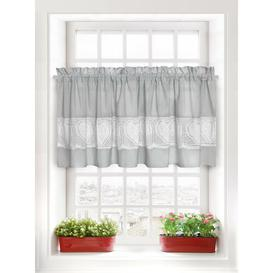 image-Heaney Slot Top Semi Sheer Curtain Brambly Cottage Panel Size: 150 W x 90 D cm, Colour: Grey
