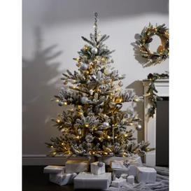 image-M&S 6ft Pre-Lit Snowy Noble Christmas Tree - White Mix, White Mix