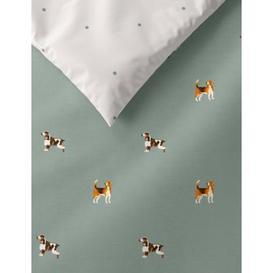 image-M&S Cotton Mix Hound Dog Bedding Set - DBL - Sage Mix, Sage Mix