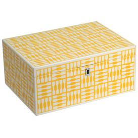 image-1970 Collection Foxy Large Yellow Jewelry Box WOLF