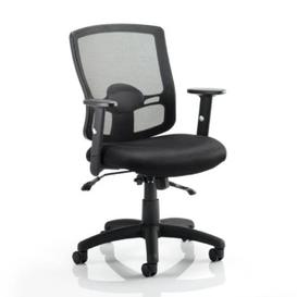 image-Portland II Black Back Office Chair With Black Seat