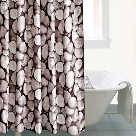 image-Pebbles Shower Curtain Grey
