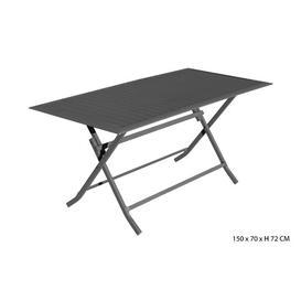 image-Kathlene Folding Aluminum Dining Table Sol 72 Outdoor Colour: Dark Grey