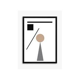 image-Geometry 1 - Framed Print & Mount, 76 x 56cm, Natural