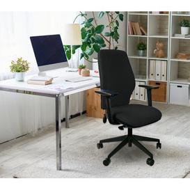 image-Morehead Ergonomic Desk Chair Ebern Designs Upholstery Colour: Black