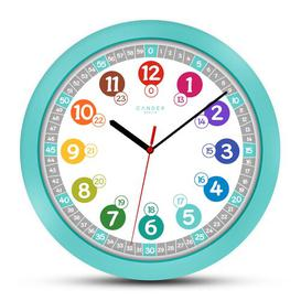 image-Children 30.5cm Silent Wall Clock Cander Berlin Colour: Turquoise