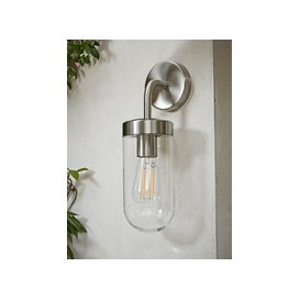 image-Brushed Aluminium Wall Light