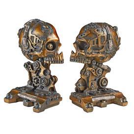image-Cyborg Skeleton Bookends Design Toscano