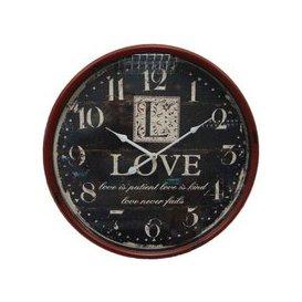 image-Love Iron Wall Clock 51cm Diameter