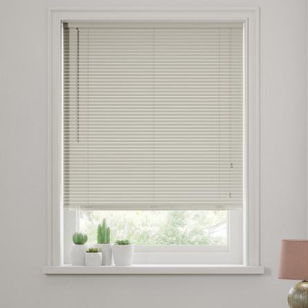 image-Dove Grey Wooden Venetian Blind 27mm Slats Grey