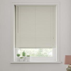 image-Dove Grey Wooden Venetian Blind 27mm Slats Grey