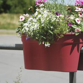 image-Plastic Balcony Planter KHW Colour: Red