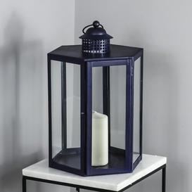 "image-Marilles 40"" Outdoor Lantern Canora Grey Finish: Blue"