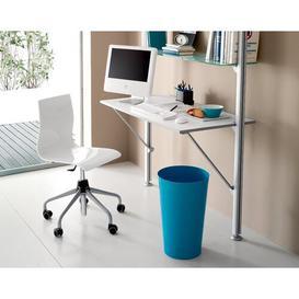 image-Caitlin Mid-Back Desk Chair Wade Logan Colour: Smoke Grey