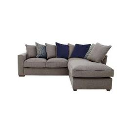 image-Comfi Fabric Pillow Back Corner Sofa with Chaise End Sofa Bed - Grey