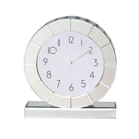 image-5A Fifth Avenue Mirrored Mantle Clock Mirror