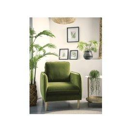 image-Scandi Armchair Birch Linen Cotton Blend