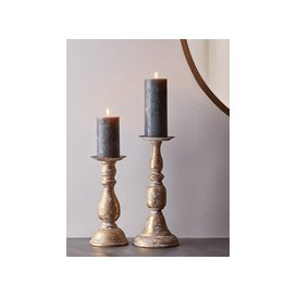 image-Aged Metal Candle Holder - Small