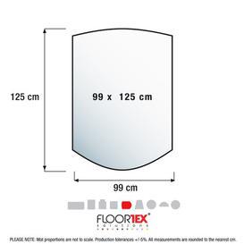 image-Cleartex Advantagemat Contoured Chair Mat for Hard Floor Floortex Size: 99cm x 125cm