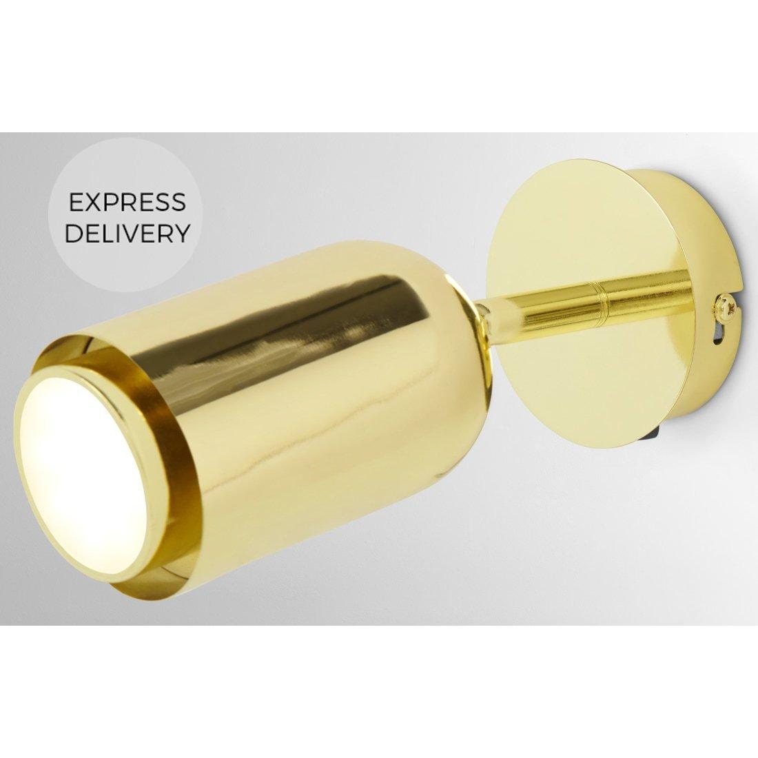 image-Korey LED Wall Spot Light, Brass