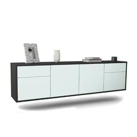"image-Graceville TV Stand for TVs up to 78"" Ebern Designs Colour: Black/Light blue"