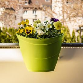 image-Lisa Plastic Balcony Planter Freeport Park Colour: Green