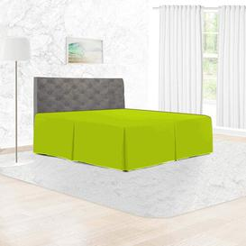 image-144 Thread Count Bed Valance Adam Home Size: King, Colour: Lime Green