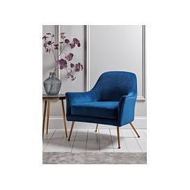 image-Flex Occasional Chair - Blue Velvet