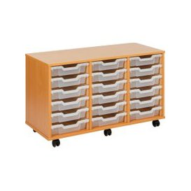 image-Economy Tray Storage Units, 18 Trays - 103wx45dx62h (cm), Translucent, Free Standard Delivery