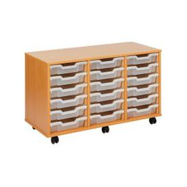image-Economy Tray Storage Units, 18 Trays - 103wx45dx62h (cm), Translucent