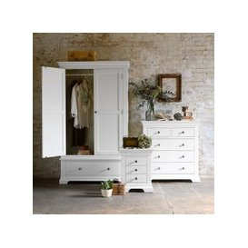 image-Chantilly White Gents Wardrobe Bedroom Set