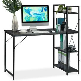image-Stansbury Writing Desk Mercury Row Tabletop/Frame colour: Black