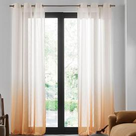 image-Nimbus Eyelet Sheer Door Curtain Madura Colour: Ochre, Panel Size: 200 W x 298 D cm