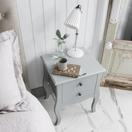 image-Camille Two Drawer Side Table Chest in Grey