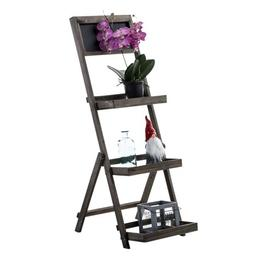 image-Vencimont Plant Stand Brambly Cottage Colour: Dark brown
