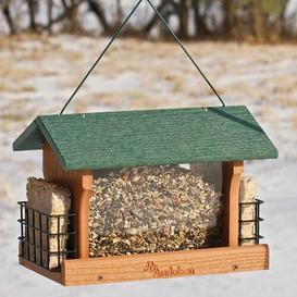 image-Eila Green Roof Hopper Bird Feeder