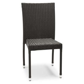 image-Viramontes Stacking Side Chair Sol 72 Outdoor Finish: Black