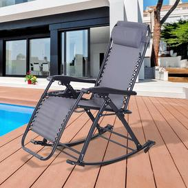 image-Tampa Garden Rocking Chair Sol 72 Outdoor Colour: Grey