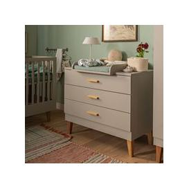 image-Vox Lounge Chest of Drawers in Light Grey & Oak