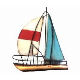 image-Sailing Boat Metal Wall Décor Happy Larry