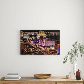 image-'Las Vegas Strip Night Lights' Photograph on Wrapped Canvas East Urban Home Size: 50.8 cm H x 81.3 cm W