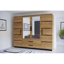 image-Cannes 3 Door Corner Wardrobe Ebern Designs