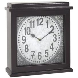 image-Mantle Clock Marlow Home Co. Finish: Dark Brown