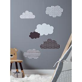 image-Monochrome Cloud Wall Stickers