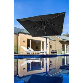 image-2.8m Square Cantilever Parasol Symple Stuff Colour: Smoked Tweed, Base Type: In-ground Fitting