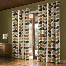 image-Multi Stem Eyelet Room Darkening Curtains Orla Kiely Panel Size: 229 W x 274 D cm